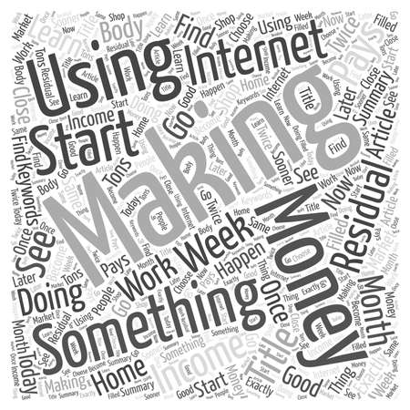 Making money using the Internet word cloud concept