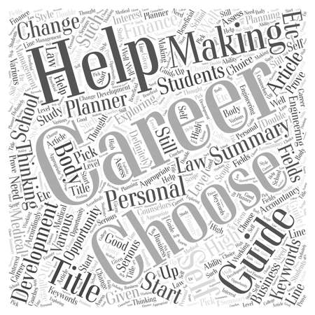 Career A Self Help Guide word cloud concept
