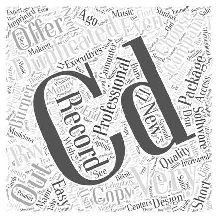 Copy CDs And Save Money word cloud concept