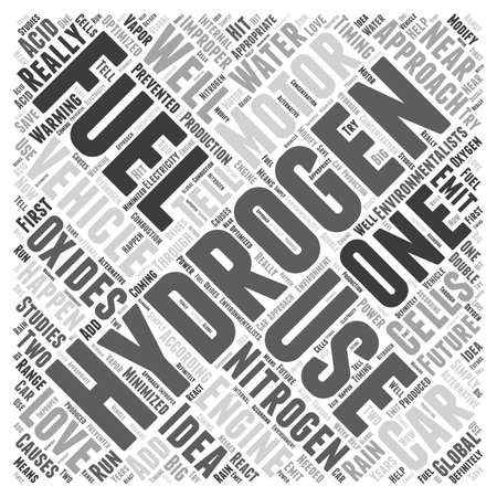 Hydrogen as Fuel for Motor Vehicles word cloud concept