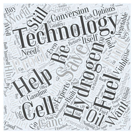 re fuel: Hydrogen Fuel Cell Technology to Save the Planet word cloud concept