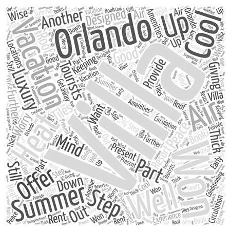 Orlando Vacation Villas om over te stappen De Luxe op uw vakantie woord wolk concept