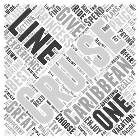 princess cruise line word cloud concept