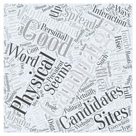 Online Campaigns word cloud concept Çizim