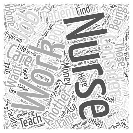 should: Considering a Career in Nursing word cloud concept