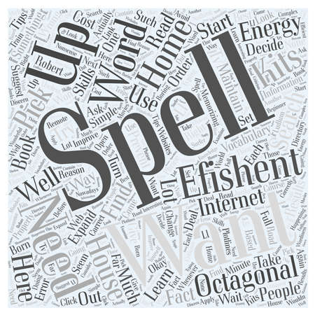 Octagon huis energie eVolver kits word cloud concept Stockfoto - 67299900
