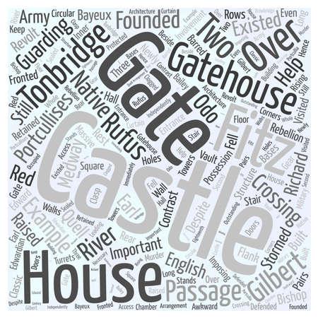 Tonbridge Castle word cloud concept
