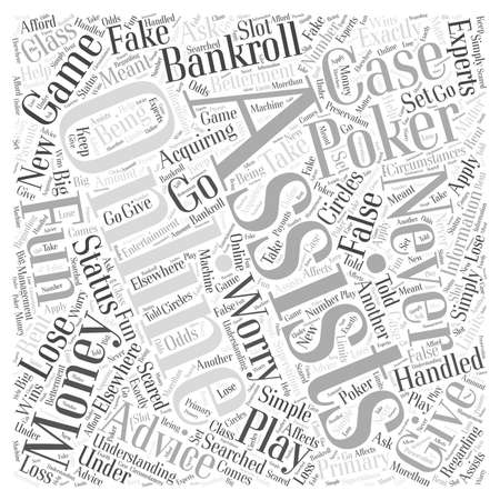 online poker assistant word cloud concept