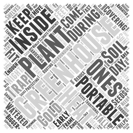 greenhouses: portable greenhouses word cloud concept Illustration