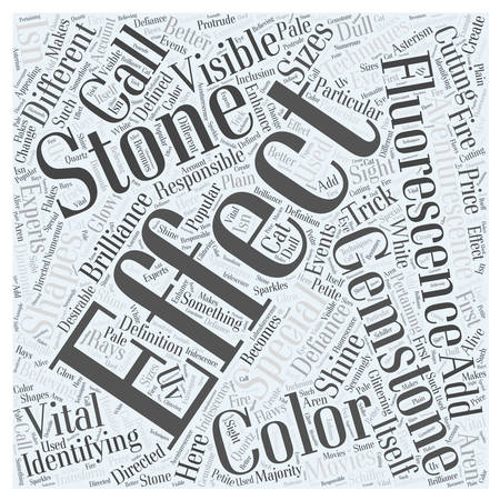 fluorescence: identifying gemstones word cloud concept
