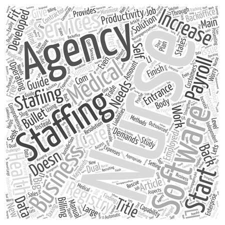 Professional Nursing Agency Software for Nurse Staffing Business word cloud concept