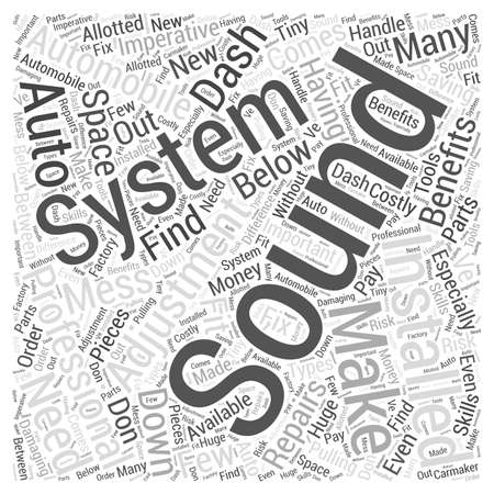 Professional Installation of Auto Sound Systems Imperative word cloud concept
