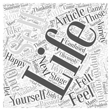 Self Improvement Article word cloud concept