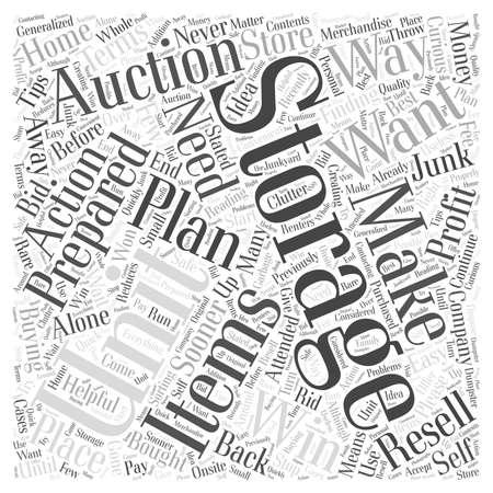 Preparing For a Storage Unit Auction word cloud concept