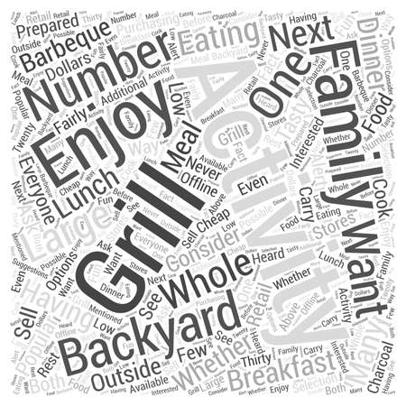 Popular Backyard Activities for the Whole Family word cloud concept