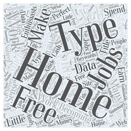 Typing Jobs At Home word cloud concept