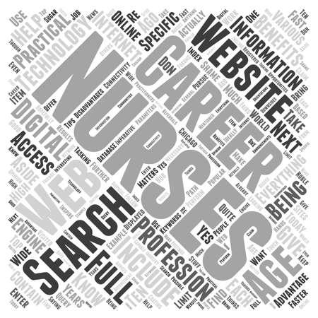 searches: Nursing career websites word cloud concept