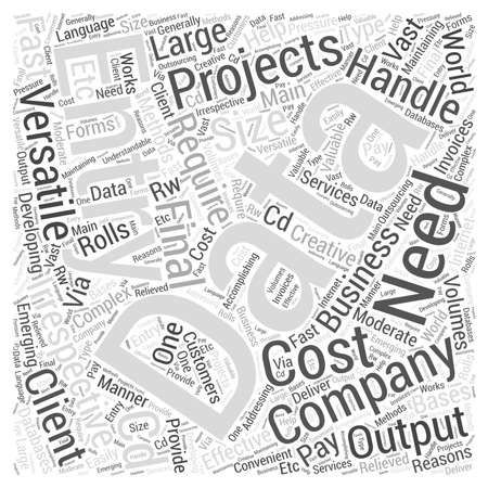 understandable: Data entry companies word cloud concept Illustration