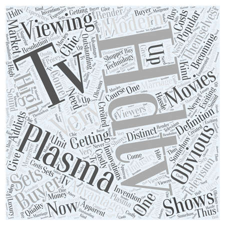 plasma hdtv word cloud concept