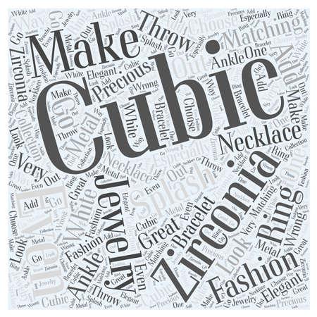 Cubic Zirconia Jewelry is Making a Splash in Fashion word cloud concept Иллюстрация