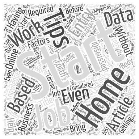 discussed: Tips for Getting Started With Online Data Entry Jobs word cloud concept Illustration