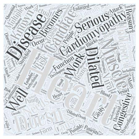 Cardiomyopathy word cloud concept