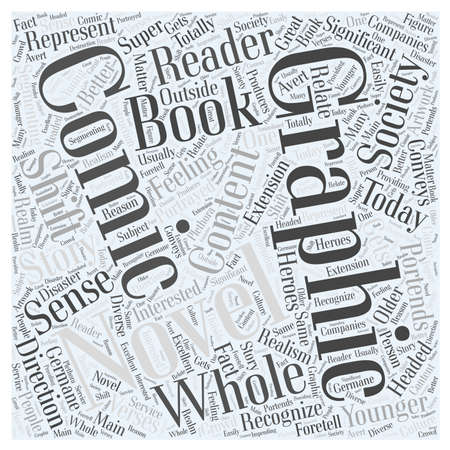 Comic Books and Graphic Novels word cloud concept