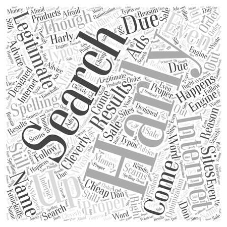 Did You Say Harly word cloud concept Illustration