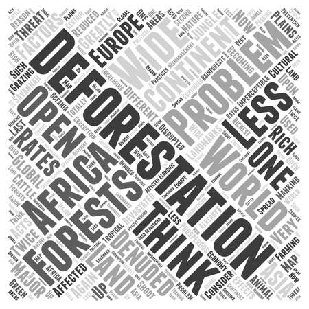 greatly: Deforestation Problems A Major Global Threat word cloud concept
