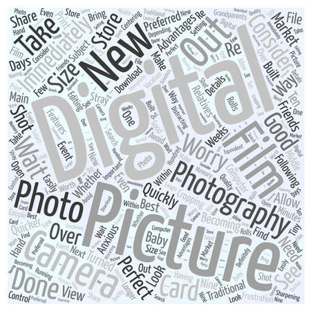 Why Digital Photography word cloud concept