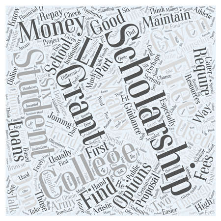 college money scholarship word cloud concept