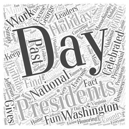 george washington: Presidents Birthdays and national holidays word cloud concept