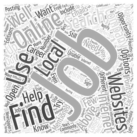 Job Searching Online What You Need to Know word cloud concept