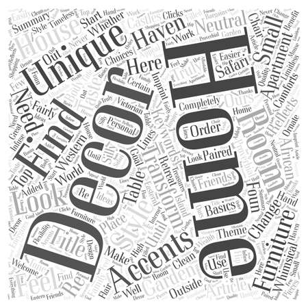 reflects: Unique Home Decor Reflects Your Taste and Style word cloud concept Illustration