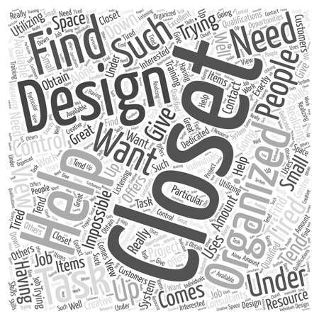 closets: Closets by Design word cloud concept