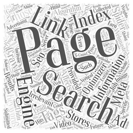 meta: Search Engine Optimization and Advertising word cloud concept