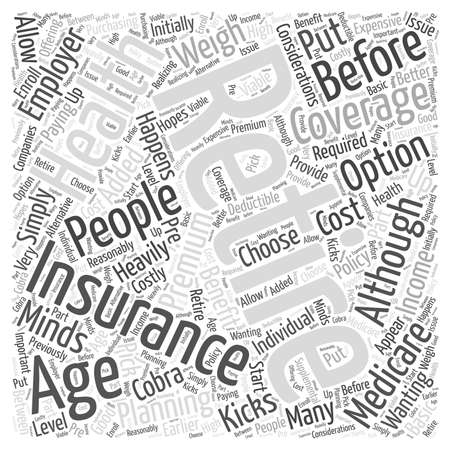 when: What Happens When I Retire word cloud concept