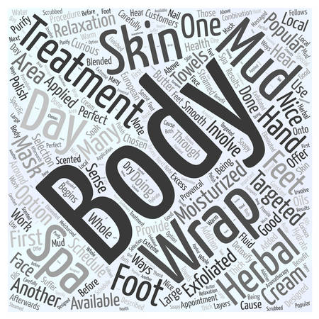 Day Spas Popular Body Treatments word cloud concept
