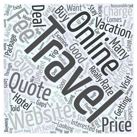 quoted: Online Travel Websites Can They Really Save You Money word cloud concept