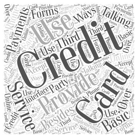Credit Card Services word cloud concept
