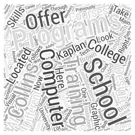 different courses: computer programming training word cloud concept
