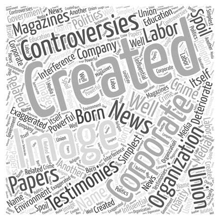 Creating a Corporate Image word cloud concept