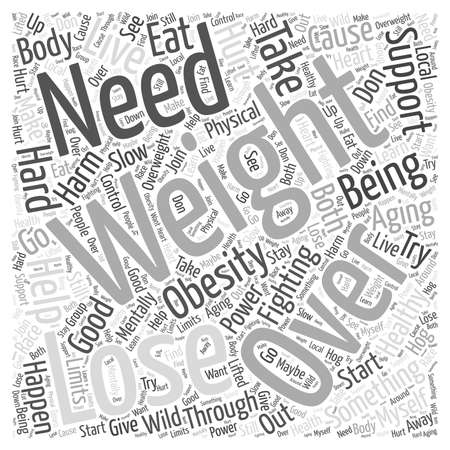 Fighting Obesity to Live through Healthy Aging word cloud concept Stock Illustratie