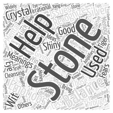 Crystal Meanings S through Z word cloud concept