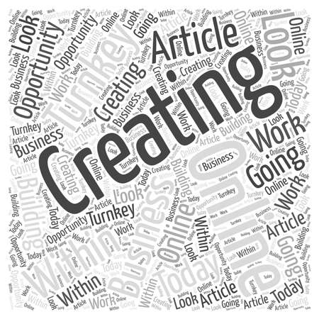 Creating online turnkey business opportunity word cloud concept