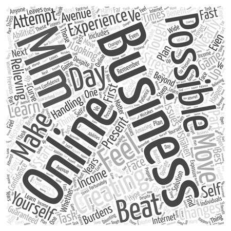 Online MLM Business word cloud concept