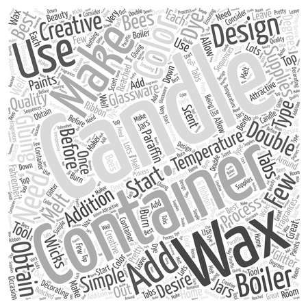 double boiler: Making Container Candles word cloud concept