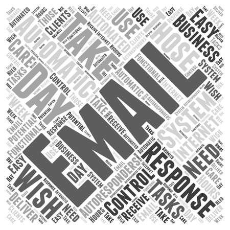 response: Email Autoresponders word cloud concept