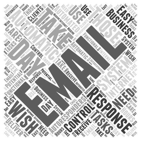 Email Autoresponders word cloud concept