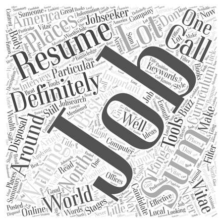Effective Resume Writing word cloud concept